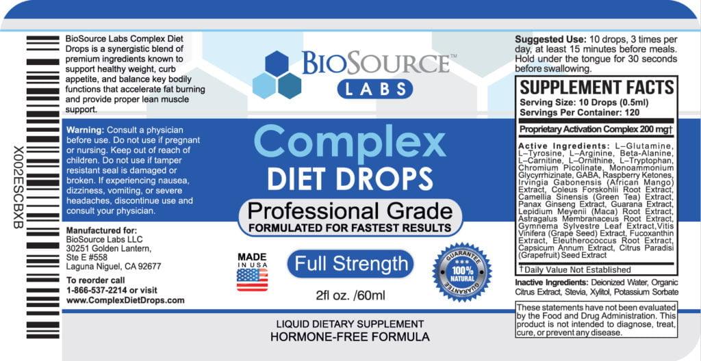 complex diet drops